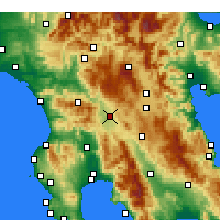 Nearby Forecast Locations - Mégalopolis - Carte
