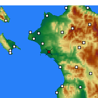 Nearby Forecast Locations - Pyrgos - Carte