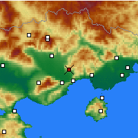 Nearby Forecast Locations - Filippoi - Carte