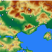 Nearby Forecast Locations - Rodolivos - Carte