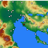 Nearby Forecast Locations - Epanomi - Carte