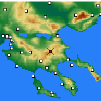 Nearby Forecast Locations - Arnaia - Carte
