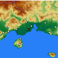 Nearby Forecast Locations - Abdère - Carte