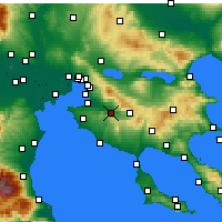 Nearby Forecast Locations - Vasilika - Carte