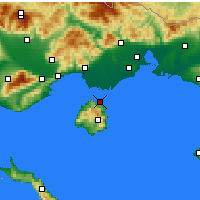 Nearby Forecast Locations - Thasos - Carte