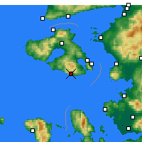 Nearby Forecast Locations - Plomári - Carte