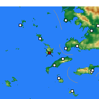 Nearby Forecast Locations - Kalymnos - Carte