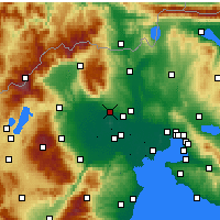 Nearby Forecast Locations - Giannitsá - Carte
