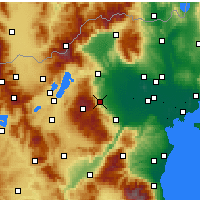 Nearby Forecast Locations - Náoussa - Carte