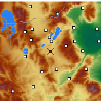 Nearby Forecast Locations - Ptolemaïda - Carte