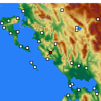 Nearby Forecast Locations - Margariti - Carte