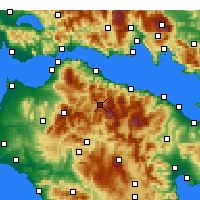 Nearby Forecast Locations - Kalávryta - Carte