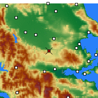 Nearby Forecast Locations - Domokos - Carte