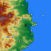 Nearby Forecast Locations - Figueras - Carte