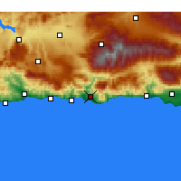 Nearby Forecast Locations - Motril - Carte