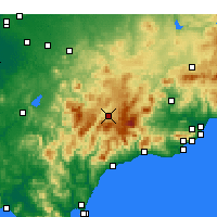 Nearby Forecast Locations - Ronda - Carte