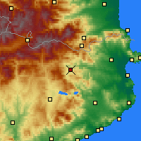 Nearby Forecast Locations - Olot - Carte