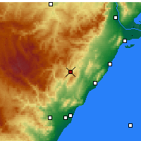 Nearby Forecast Locations - Albocàsser - Carte