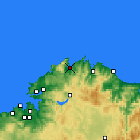 Nearby Forecast Locations - Ortigueira - Carte