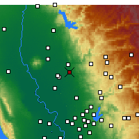 Nearby Forecast Locations - Marysville AF - Carte