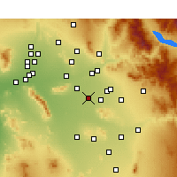 Nearby Forecast Locations - Chandler - Carte