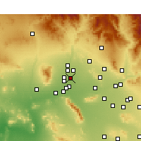 Nearby Forecast Locations - Glendale - Carte