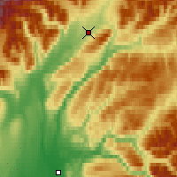 Nearby Forecast Locations - Chulitna - Carte