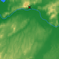 Nearby Forecast Locations - Manley Hot Springs - Carte