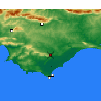 Nearby Forecast Locations - Bredasdorp - Carte