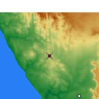 Nearby Forecast Locations - Bitterfontein - Carte