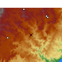 Nearby Forecast Locations - Mount frere - Carte