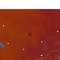 Nearby Forecast Locations - Senekal - Carte