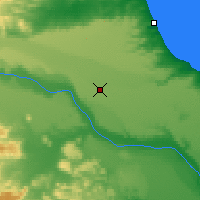 Nearby Forecast Locations - Pico Truncado - Carte