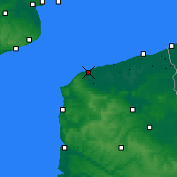 Nearby Forecast Locations - Calais - Carte