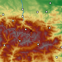 Nearby Forecast Locations - Vallées d'Ax - Carte