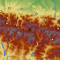 Nearby Forecast Locations - Baqueira Beret - Carte