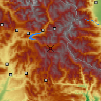 Nearby Forecast Locations - Valle de l'Ubaye - Carte