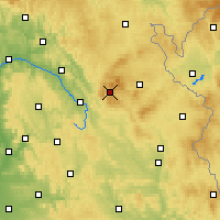 Nearby Forecast Locations - Warmensteinach - Carte