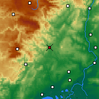 Nearby Forecast Locations - Alès - Carte