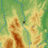 Nearby Forecast Locations - Roanne - Carte