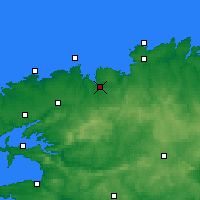 Nearby Forecast Locations - Morlaix - Carte