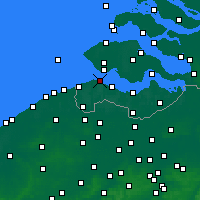 Nearby Forecast Locations - Breskens - Carte