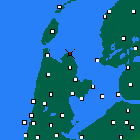 Nearby Forecast Locations - Den Oever - Carte