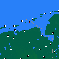 Nearby Forecast Locations - Rottumeroog - Carte