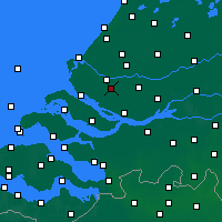 Nearby Forecast Locations - Spijkenisse - Carte