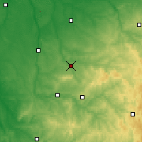 Nearby Forecast Locations - Bellac - Carte