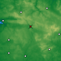 Nearby Forecast Locations - Domfront - Carte