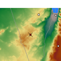 Nearby Forecast Locations - Mitzpe Ramon - Carte