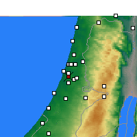 Nearby Forecast Locations - Rishon Letsion - Carte