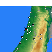 Nearby Forecast Locations - Holon - Carte